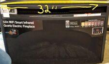 32� Wifi Smart Infrared Quartz Insert Electric Fireplace 16In-32-110