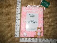 Pink Girls Babys 1st Christmas Picture Frame Christmas Tree Ornament Kurt Adler
