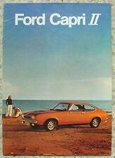 FORD CAPRI II Car Sales Brochure 1974 DUTCH TEXT