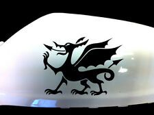 Cymru Welsh Dragon Car Sticker Wing Mirror Styling Decals (Set of 2), Black