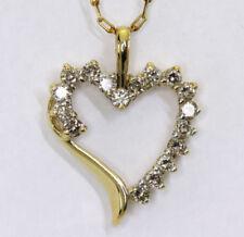 Collares y colgantes de joyería con diamantes colgante de oro amarillo de 10 quilates