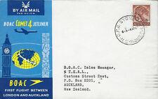 AVIATION :1963 B.O.A.C. Comet 4 First Flight -Sydney-Auckland