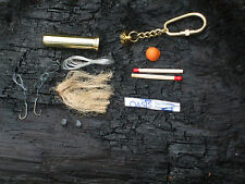SOLID BRASS KEYCHAIN WATERPROOF SURVIVAL KIT PILL CAPSULE MONEY STASH NECKLACE