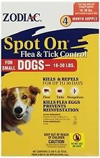 Zodiac Spot On Flea Tick Control For Small Dogs, 4 Months Supply