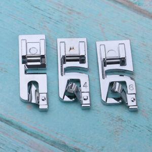 Dobladillo de 3 Pliegues Pie Prensa Todo el Acero Dobladillo Laminado Pie M/áquina de Coser Profesional Accesorios para m/áquina de Coser Industrial 490359 1//4 HEEPDD Pie prensatelas