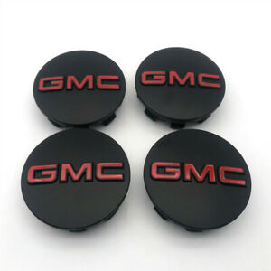 4PCS 3.25'' Black Red Wheel CENTER CAP For GMC Sierra 1500 2500 Yukon XL 2014-19