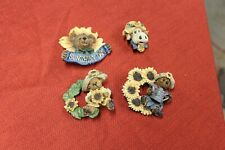 4 Boyds Bears Pin Collection Cow Bear Sunflower Sunshinny day