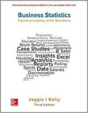 Business Statistics: Communicating with Numbers 3e by Jaggia Global Edition