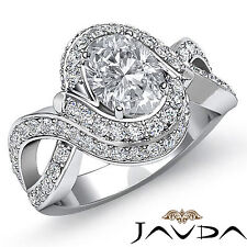 Chic Oval Diamond Antique Pre-Set Engagement Ring GIA G color VS2 Platinum 2 ct