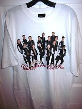 CHAMPIONS ON ICE skating T shirt 2001 tour XL Michelle Kwan tee Brian Boitano