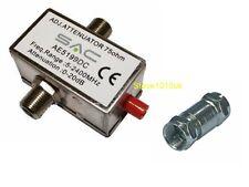TV câble f-type d'atténuation Variable 0-20Db réduire signal
