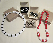 Vintage Avon lot - new in boxes -   2 necklaces, 3 pair clip earrings
