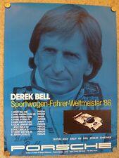 1986 Porsche 956 Derek Bell World Champion Showroom Advertising Poster RARE L@@K