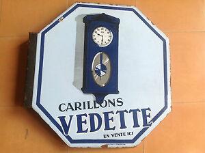 Vintage Placa Anuncio Esmaltada CARILLONS VEDETTE - Vintage Plaque Advertisement