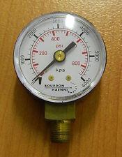 Pressure Gauge 0..6000 kPa / 870 psi 40mm Gauge, bottom entry