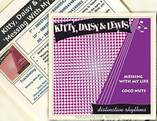 """KITTY DAISY & LEWIS 7"""" Messing With My Life + PROMO Info Sheet NEW Vinyl 2011"""