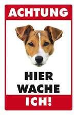 Blechschild - JACK RUSSELL TERRIER  HIER WACHE ICH -  20x30 cm 23006