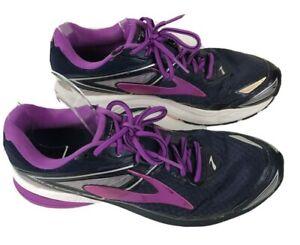 Brooks Ravenna 8 Women's Size 10 Running Shoe Lace Up Low Top Dark Blue Sneaker