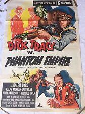 Original Dick Tracy Vs Phantom Empire 1952 Movie Poster