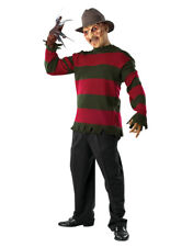 Nightmare Elm Street Costume,Mens Freddy Krueger Deluxe Sweater,XL,CHEST 44-46""