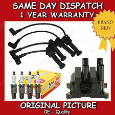 FORD FUSION,PUMA 1.6 IGNITION COIL + NGK SPARK PLUGS + SILICONE LEADS 02>ON