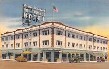 CA, California  PASO ROBLES HOT SPRINGS HOTEL Coast Highway 101 c1940's Postcard