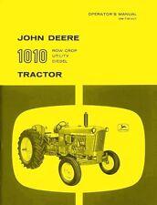 John Deere 1010 Row Crop Utility Diesel Tractor Operators Manual Before Sn 31000