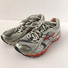 Brooks Trance 10 Women Athletic Running Shoes Sneaker Red Orange White Silver 7M