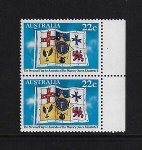 1981 Personal flag for Australia of Queen Elizabeth II MNH pair (2)