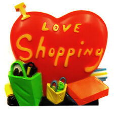 "Acme ""I Love Shopping"" Heart Shaped Magnet Clip ""Brand New"""