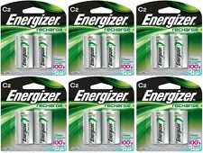 6 - Energizer Rechargeable C Nimh Batteries 2 Pack