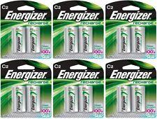 6 - Energizer Rechargeable C Nimh Batteries 2 Pack