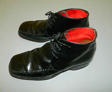 mens Jeffery West Croaker  Black leather Lace up Winter  boots size 8 (T141)