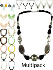 Womens Chunky Necklace Fashion Jewellery Multi Pack Lobster Trigger Fastening