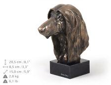 Lebrel afgano, estatua de mármol / busto de perro ArtDog, edición limitada ES