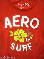 Authentic AERO Aeropostale SURF Orange Shirt Small