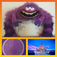 Disney Store Monsters University ART Bendy Posable Legs Soft Plush Toy Purple