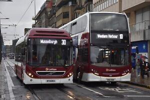 15 BT14 DKA & 211 SN61 BBX Lothian Buses 6x4 Quality Bus Photograph