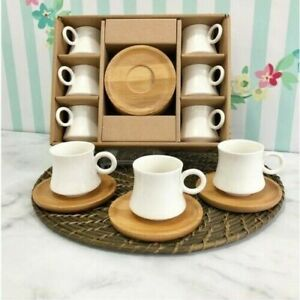 Porcelain Coffee Set Turkish Coffee Set Coffee Cup Coffee Cups Set of 6 Cups