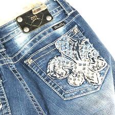 Miss Me Fluer-de-lis Jeans Stretch Boot Cut 30 New Orleans Saints Fluer-de-lis