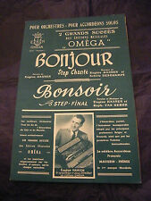 Partition Bonjour Bonsoir Hansen Van Herck Deschamps Music Sheet