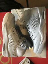 Air Jordan V 5 Retro Prem Pure Platinum size 9US 8UK DS AJ5 Grey Silver Leather
