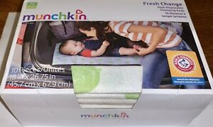 Munchkin Arm & Hammer Fresh Change Disposable Changing Pads 10-pack 11283 ~ New