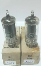 2 Matching Date RCA JRC 6AK6 Vacuum Tubes Tested New On Calibrated Hickok