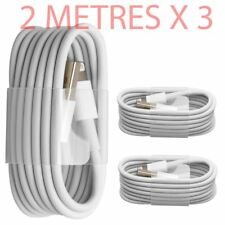 3X Extra Long 2M USB LEAD SYNC DATA CABLE CHARGER FOR iPhone 6 PLUS 5 5S iPad UK