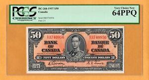 Canada $50 Dollars 1937 P-63b BC-26b PCGS-64 PPQ Gordon-Towers Banknote