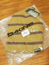 Dakine Tall Boy Stripe Knit Beanie Hat - Gold / Burgundy - Lil Buck / Rosewood