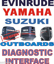 BEST EVINRUDE YAMAHA SUZUKI OUTBOARD boat diagnostic kit cable interface YDS SDS