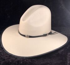 """NWT Bailey Wester Cowboy """"HICKOK"""" 7X 100 % Straw 7"""" 56cm GUS Style Off White"""