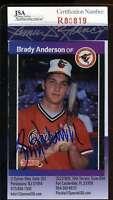 BRADY ANDERSON JSA COA Autographed 1989 DONRUSS ROOKIE Authentic Hand Signed